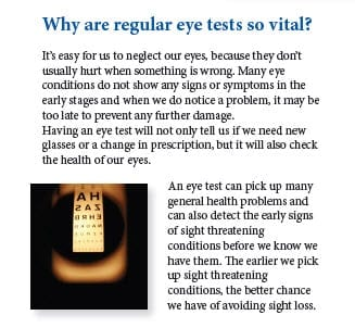 Regular Eye tests