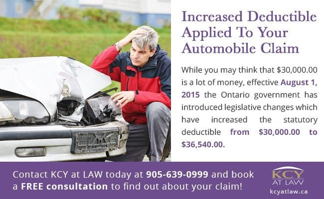 Deductible Applied To Your Automobile Injury Claim - Personal Injury Lawyer Ontario