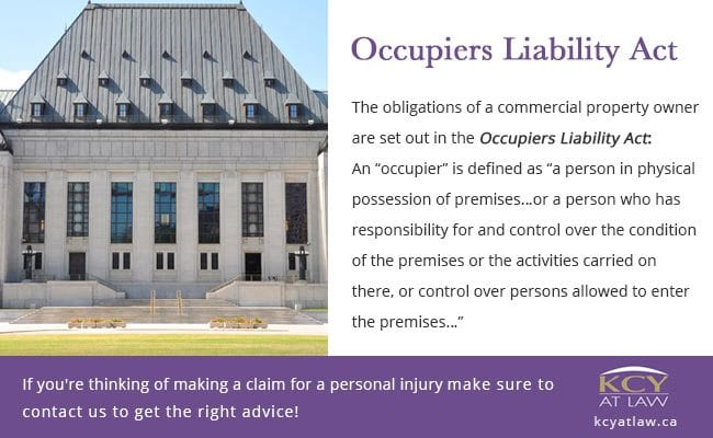 Occupiers' Liability - Personal Injury Lawyer