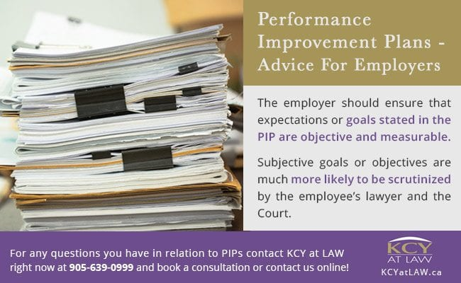 Performance Improvement Plans (PIPs) Advice for Employers - KCY at LAW
