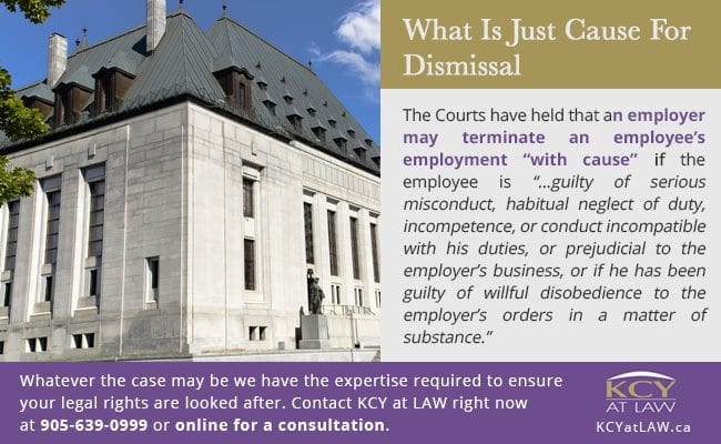 What is Just Cause for Dismissal - KCY at LAW