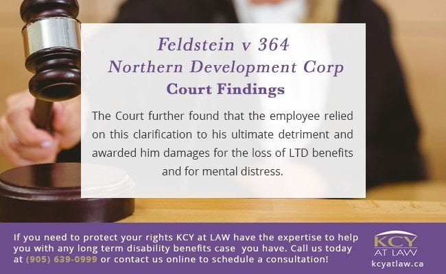 Feldstein v 364 Northern Development Corp Long Term Disability Benefits Courrt Findings