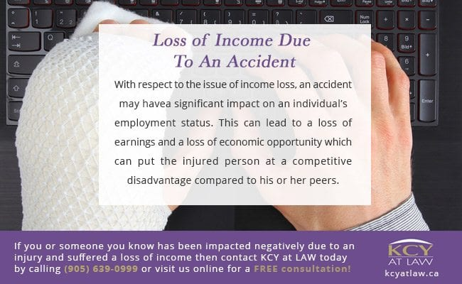 Loss of Income Due To An Accident Toronto - KCY at LAW