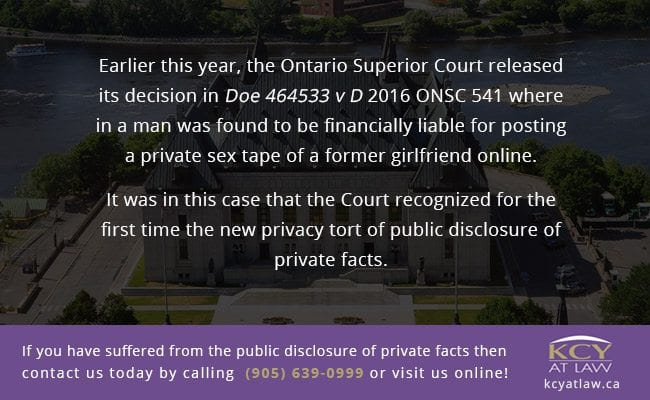 Ontario Superior Court Decision in Doe 464533 v D 2016 ONSC 541
