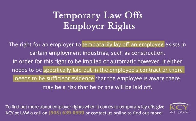 Temporary Lay  Offs Employer Rights - KCY at LAW