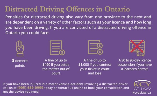 Distracted Driving Offences in Ontario - KCY at LAW