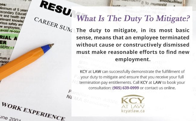What Is The Duty To Mitigate - Employment Lawyers