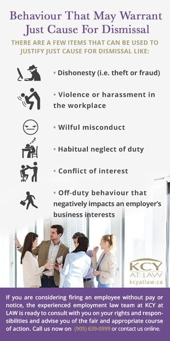 Behaviours That Warrant Just Cause For Dismissal - KCY at LAW - Employment Lawyers