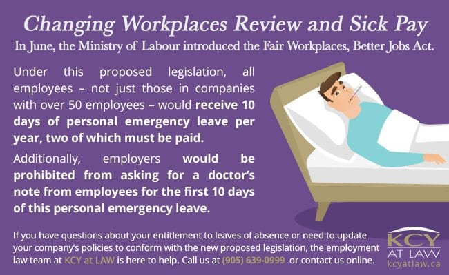 Changing Workplaces Review and Sick Pay Entitlements