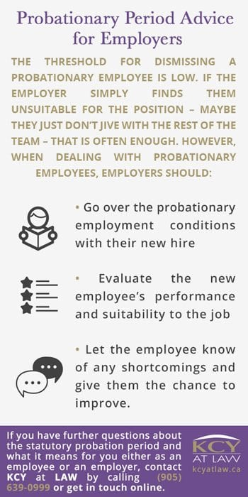 Probationary Period Advice for Employers - Employment Lawyer Ontario