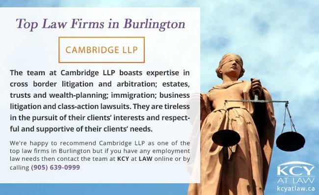 Top Law Firms in Burlington - Cambridge LLP - Employment Lawyer Burlington