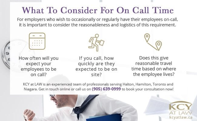 What Employers Need To Consider for On Call Time - KCY at LAW