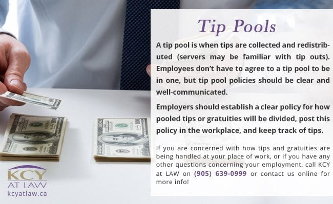 Laws About Tip Pools Canada - Employment Lawyer - KCY at LAW
