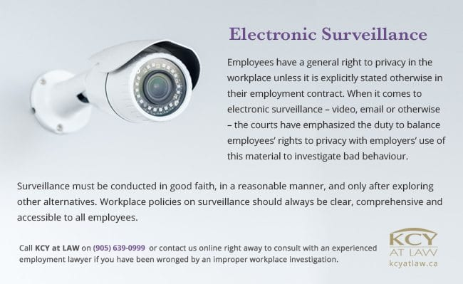 Electronic Surveillance in the Workplace