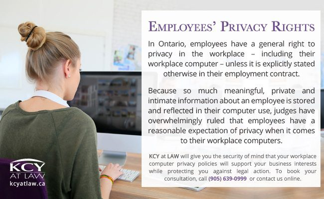 Employees Privacy Rights - Employment Lawyer Burlington