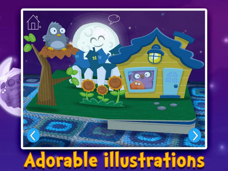 Goodnight Mo - a bedtime app by StoryToys with adorable illustrations.