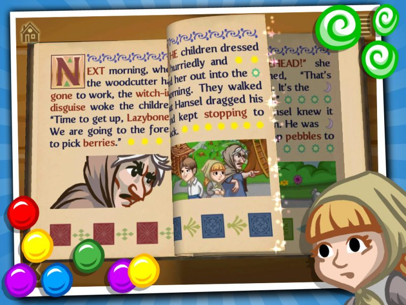 Grimm's Hansel and Gretel - a 3D interactive pop-up book app for children by StoryToys. Immerse yourself in the story.