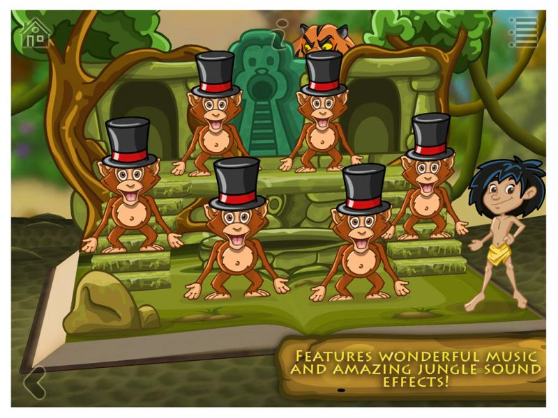 The Jungle Book - a 3D pop-up kids app by StoryToys. Features wonderful music and amazing jungle sound effects!