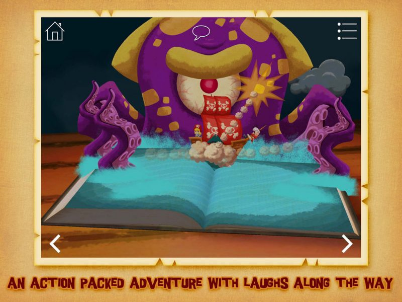 The Pirate Princess - A swashbuckling, action-packed pirate adventure story and game by StoryToys. An action packed adventure with laughs along the way.