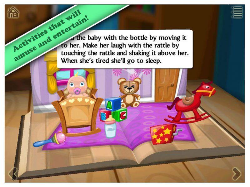 Grimm's Rapunzel, a 3D interactive pop-up book app by StoryToys. Activities that will amuse and entertain.