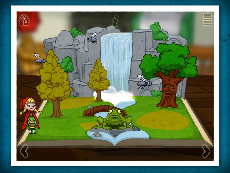 Grimm's red Riding Hood, a 3D pop-up kids' app by StoryToys. Bursting with exciting games and puzzles.