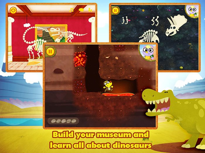 Dino Dog - a fun dinosaur app for kids with story and game by StoryToys. Build your own museum and learn all about dinosaurs.