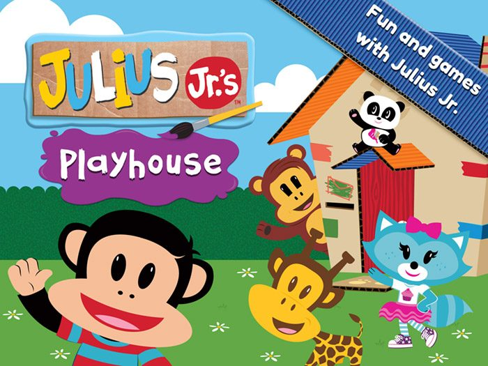 Julius Jr.'s Playhouse kids app by StoryToys. Play songs from the TV show, complete puzzles, take a quiz and decorate cakes