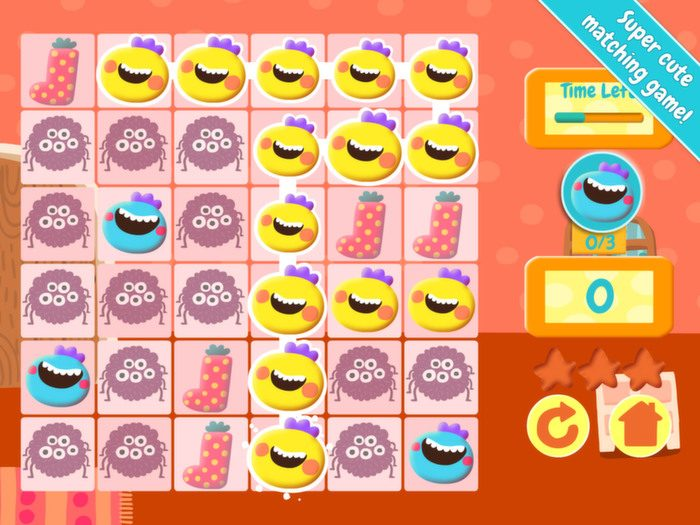 Jelly Jumble StoryToys Kids App. Match the items to improve your score.