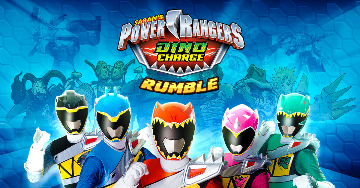 Power Rangers Dino Charge Rumble - a 3D game featuring comic book animation.